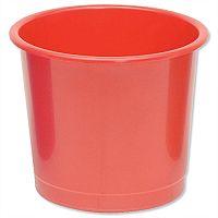 5 Star Office Waste Desk Bin Polypropylene 14 Litres D254xH304mm Red