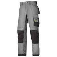 """Snickers 3313 Craftsman Trousers Rip-Stop Grey/Black Waist 30"""" Inside leg 30"""" Size 84"""