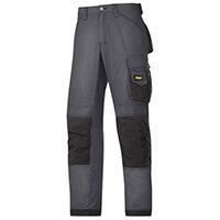 "Snickers 3313 Craftsman Trousers Rip-Stop Steel Grey/Black Waist 47"" Inside leg 32"" Size 62"