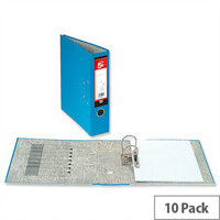 5 Star Office Lever Arch File 70mm Foolscap Blue Pack 10