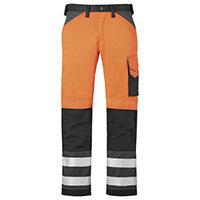"""Snickers High-Vis Trousers Orange 2 Waist 35"""" Inside leg 28"""" WW1"""