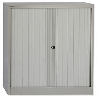 Bisley Tambour Cupboard Grey Steel Side-Opening W1000xD470xH1016mm AST40W-73