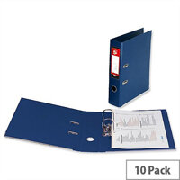 5 Star Office Lever Arch File Polypropylene Capacity 70mm A4 Blue Pack of 10