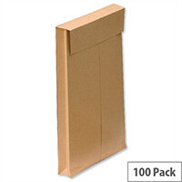 New Guardian Gusset Envelopes 350x248x25mm Peel and Seal 130gsm Manilla Pack of 100