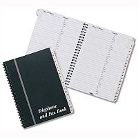 Telephone and Fax Address Book A5 Wirebound Concord CD10