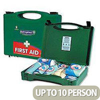 First Aid Kit Green Box HS1 Traditional 10 Person