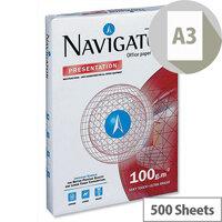 Navigator A3 White Presentation Premium Paper 100gsm 500 Sheets