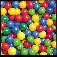 Plastic Ball Pool Balls - Colour Mix - Pack of 500 - Diameter 6cm
