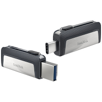 SanDisk Ultra Dual - Reversible USB Flash Drive - 32 GB - USB 3.1 - Ultra Fast USB-C 150Mb Per Second