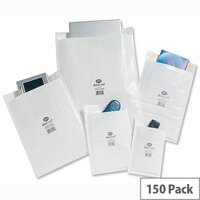 Jiffy AirKraft Size 000 Bubble Lined Protective Bags Protective 90x145mm White Pack of 150