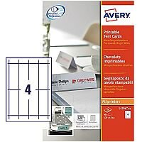Avery L4794-10 Printable Tent Cards 4 per Sheet 120x45mm White 40 labels