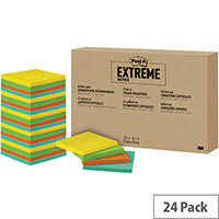 Post-it Notes Extreme 76 x 76mm Assorted Pack of 24 EXT33M-24-EU1