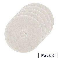3M Economy Floor Pads 430mm White Pack of 5 2NDWH17