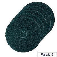 3M Economy Floor Pads 430mm Green Pack of 5 2NDGN17