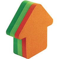 Post-it Notes 70 x 70mm Arrow Neon Orange and Green Pack of 12 3M34983