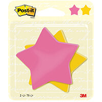 Post-it Notes Star Shape 75 Sheet 70.5 x 70.5mm Pack of 2 7100236274