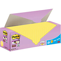 Post-it Super Sticky Notes Canary Yellow Cabinet 76x76mm Pack of 24