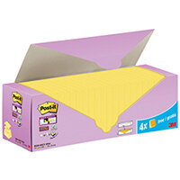 Post-it Super Sticky ZNotes Canary Yellow Cabinet 76x76mm Pack of 24