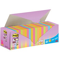 Post-it Sticky Z-Notes Colour Cabinet 76x76mm Pack of 24 7100236587