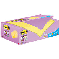Post-it Super Sticky Notes Canary Yellow Cabinet 127x76mm Pack of 24