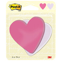 Post-it Notes Heart Shape 75 Sheets 70 x 72mm Pack of 2 7100236596