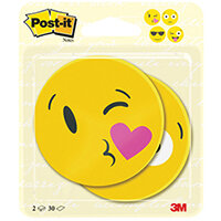 Post-it Notes Emoji Shape 30 Sheets 70 x 70mm Pack of 2 7100236592