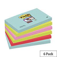 Post-it Super Sticky Notes Miami 76 x 127mm 655-6SS-MIA
