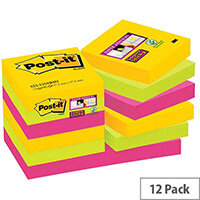 Post-it Notes Super Sticky 47.6 x 47.6mm Rio Pack of 12 622-12SSRIO