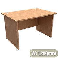 Panel End Desk Rectangular W1200xD800xH725mm Beech Ashford