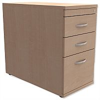 Filing Pedestal Desk-High 3-Drawer 800mm Deep Maple  - Universal Storage Can Be Used Alone Or Accompany The Switch, Komo or Ashford Ranges