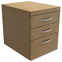 Fixed Pedestal for Cantilever Desk 3-Drawer Urban Oak Kito