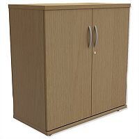 Low Cupboard with Lockable Doors W800xD420xH770mm Urban Oak Kito