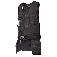 Snickers 4254 Toolvest, Canvas+ Size XS Black