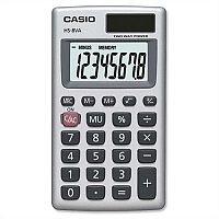Casio Handheld Calculator 8 Digits Battery/Solar Power HS8V-S-U-H