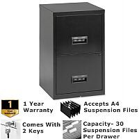 Pierre Henry A4 2 Drawer Steel Filing Cabinet Lockable Black  sc 1 st  Hunt Office & Funky Coloured Filing Cabinets - HuntOffice.ie