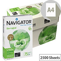 Navigator Eco-logical Paper FSC Ream-Wrapped 75gsm A4 Bright White 5 x 500 Sheets