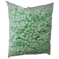 Green Loosefill Polystyrene Chips Bubble Wrap ( Pack of 15 Cubic Feet Pack)