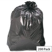 5 Star Bin Bags Medium Duty 100 Gauge 110 Litre Capacity Black Pack 200