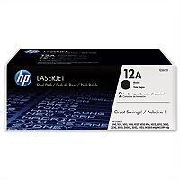 HP 12A Black Laser Toner Cartridge Q2612AD Pack 2