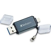 Verbatim iStore'N'Go USB 3.0 Memory Stick - 16GB - USB to Lightning - Windows, Mac and iPhone Compatible 49304