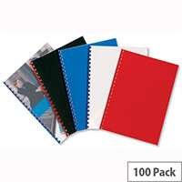 GBC PolyCovers Opaque Binding Covers Polypropylene 300 micron A4 Black Pack 100