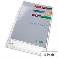 Leitz Transparent Expanding Pocket a4 170 Micron Pack of 5 47188