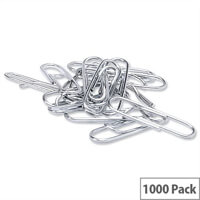 Lipped Paper Clips Metal Large 33mm Pack 1000 5 Star