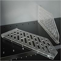 Bisley Dividers for Slotted Shelf BSD Clear Pack of 5