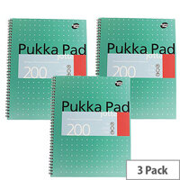 Pukka Pad Jotta A4 Punched Notebook Ruled 200 Pages Pack 3