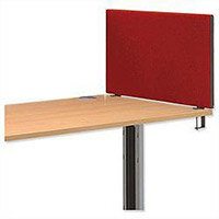 Jump 800 Desktop Screen with Easy-fit Clamps W800xH450mm Burgundy