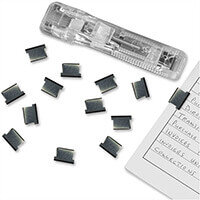 Rapesco Supaclip ''40'' Plain Steel Clips with Dispenser (Pack of 25 clips)
