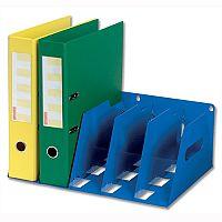 Lever Arch Filing Rack Portable Blue Rigid Metal