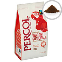 Percol Fairtrade Guatemala Ground Coffee Medium Roasted 200g Ref A07933