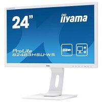 "Iiyama ProLite B2483HSU-W5 - LED Monitor 24"" 1920 x 1080 Full HD (1080p) - 250 cd/m², 1000:1, HDMI, VGA, DisplayPort, Speakers - Colour: White"